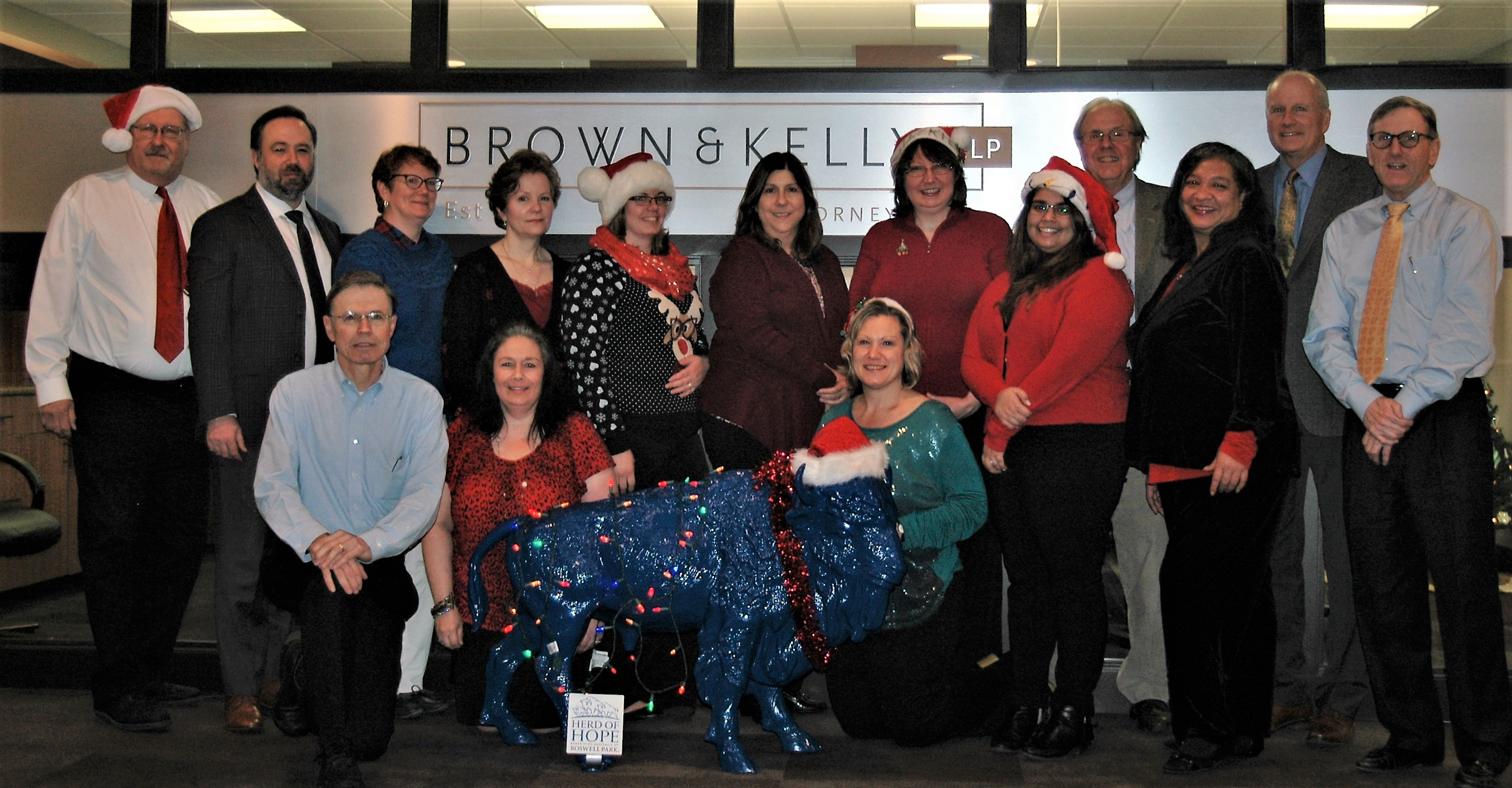 """Brown & Kelly has joined the """"Herd of Hope campaign with Roswell Park."""