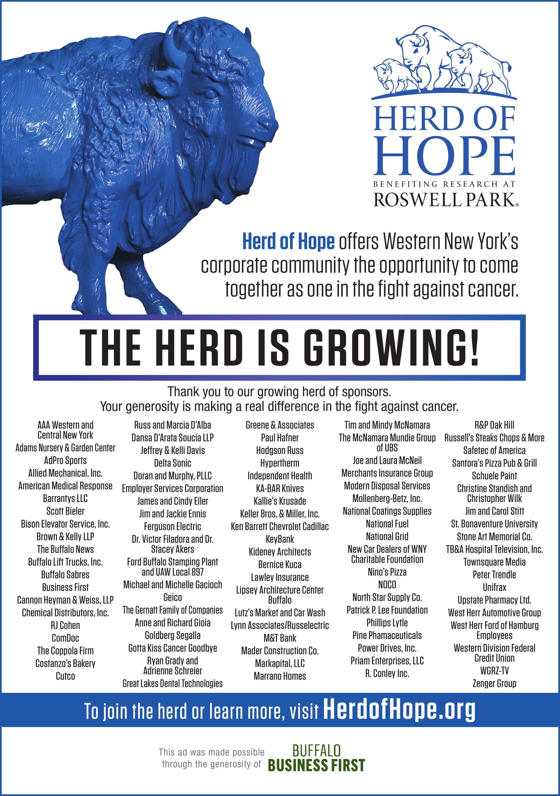 PROUD TO BE PART OF THE GROWING HERD OF HOPE